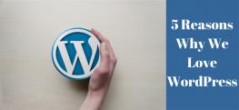 5 Reasons Why We Love WordPress